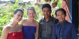 Tanya and Naomi with Mr Pheng and his wife